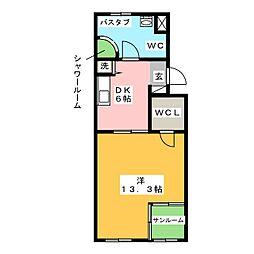 レインボーカーサ巽ヶ丘[3階]の間取り