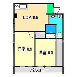 10'POINT[3階]の間取り