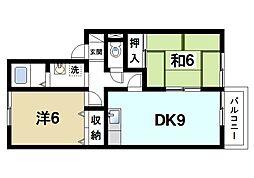 メゾン・ド・ヴィレ西大寺[2階]の間取り