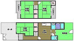 [テラスハウス] 大阪府河内長野市市町 の賃貸【/】の間取り