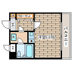 兵庫県神戸市長田区腕塚町3丁目の賃貸マンションの間取り
