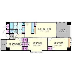 ロイヤルメゾン上野西[5階]の間取り
