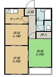 カーサ君塚[1階]の間取り