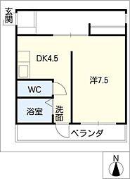 多恵第1ビル[2階]の間取り