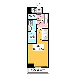 GRAN PASEO日本橋三越前 8階1Kの間取り