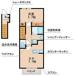 シャルマンヒロ弐番館[2階]の間取り