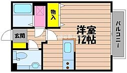 岡山県倉敷市玉島の賃貸アパートの間取り