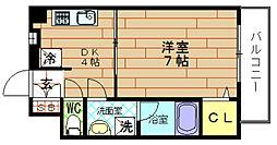 スプリング・ウエスト[2階]の間取り