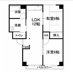 レジデンス下中野A棟[3階]の間取り