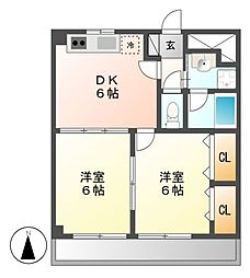 山伝マンション[6階]の間取り