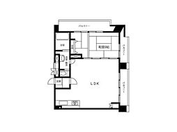 フラワーマンション[6階]の間取り