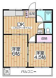 マンション紺利[306号室]の間取り