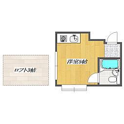 Ligure NISHIKASAI[102号室]の間取り