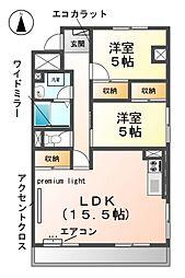 愛知県清須市清洲2丁目の賃貸マンションの間取り