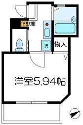 ロッシェル二番館[1-203号室]の間取り