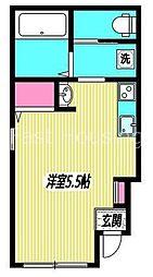 東京都中野区野方3丁目の賃貸アパートの間取り
