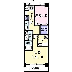 プリンセスガ−デン本館[3階]の間取り