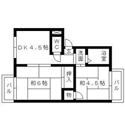 サンコーポ稲川[2階]の間取り