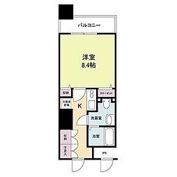 メゾン・ド・ヴィレ大阪城公園前 23階1Kの間取り