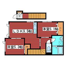 ハウスKmt[2階]の間取り