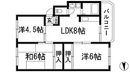 シャンボール八王寺[1階]の間取り