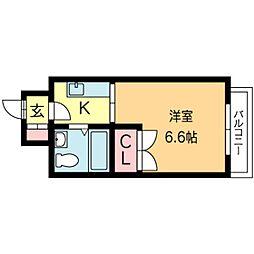 北海道札幌市北区北二十五条西4丁目の賃貸マンションの間取り