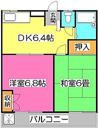 カワグチマンション[2階]の間取り