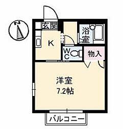 徳島県徳島市新浜本町1丁目の賃貸アパートの間取り