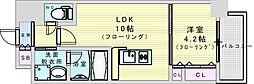 阪急神戸本線 神崎川駅 徒歩10分の賃貸マンション 3階1LDKの間取り