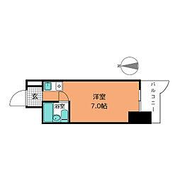 パリーマンション[7階]の間取り