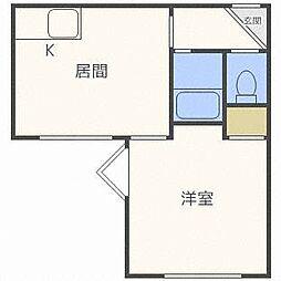 北海道札幌市白石区栄通9丁目の賃貸マンションの間取り