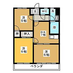 メイフラワー110[2階]の間取り