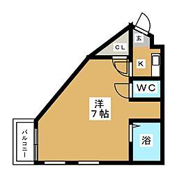 アバンセ箱崎[4階]の間取り