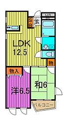MAISON WARABI[2階]の間取り
