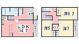 OA FLAT飾東[A101号室]の間取り