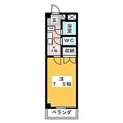 フォーレストユイ[4階]の間取り