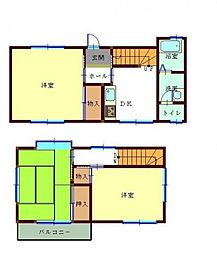 [タウンハウス] 千葉県松戸市六高台8丁目 の賃貸【/】の間取り