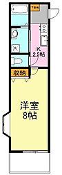 東京都板橋区赤塚4丁目の賃貸アパートの間取り