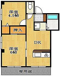 都マンションII[1階]の間取り