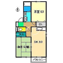 コーポ常福 A棟[2階]の間取り