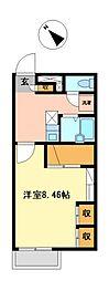 兵庫県加古川市別府町本町2丁目の賃貸アパートの間取り