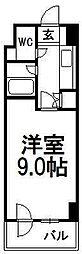 フロンティア菊水[706号室]の間取り