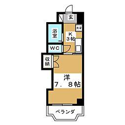 クレール小林[7階]の間取り