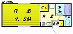 Kアネックス[5階]の間取り