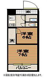 南加瀬マンション[3階]の間取り