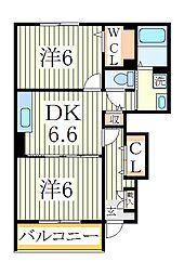 メゾン フレスクーラ[1階]の間取り