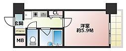 エスリード新神戸[2階]の間取り