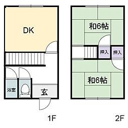備後アパート[3-B号室]の間取り