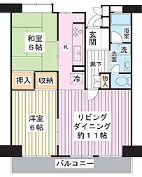 美浜東エステート6号棟[9階]の間取り