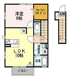東京都西東京市西原町2丁目の賃貸アパートの間取り